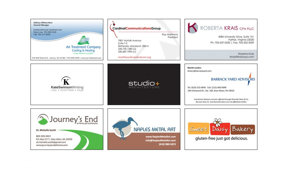 business cards running for office